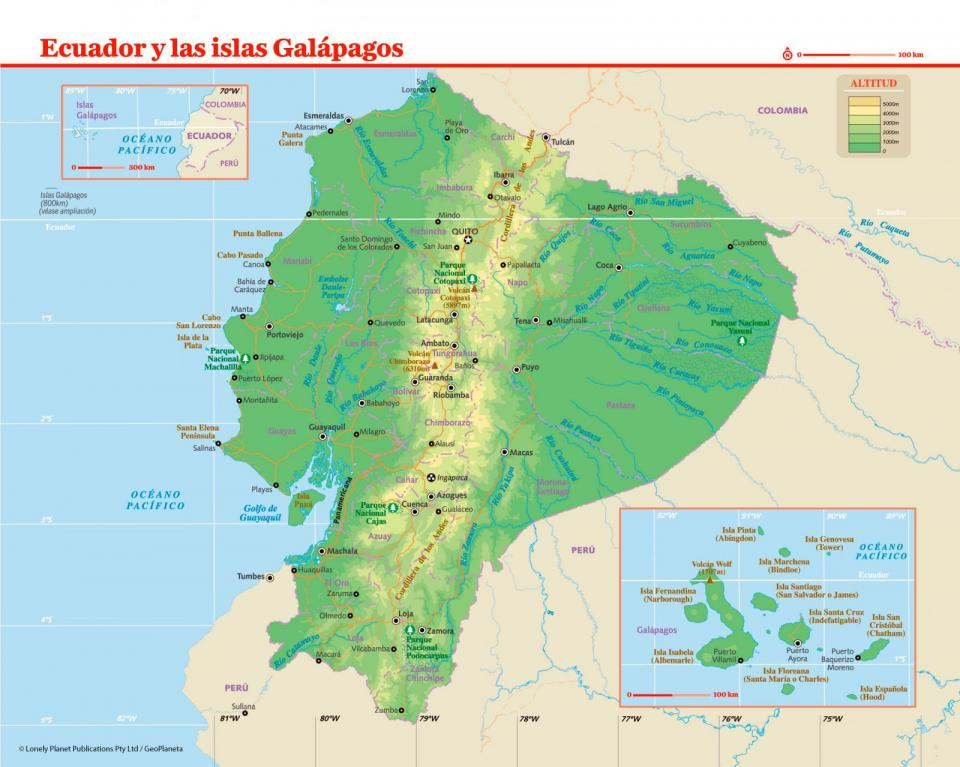 Mapa de Ecuador para preparar tu viaje a Ecuador de la forma más sencilla