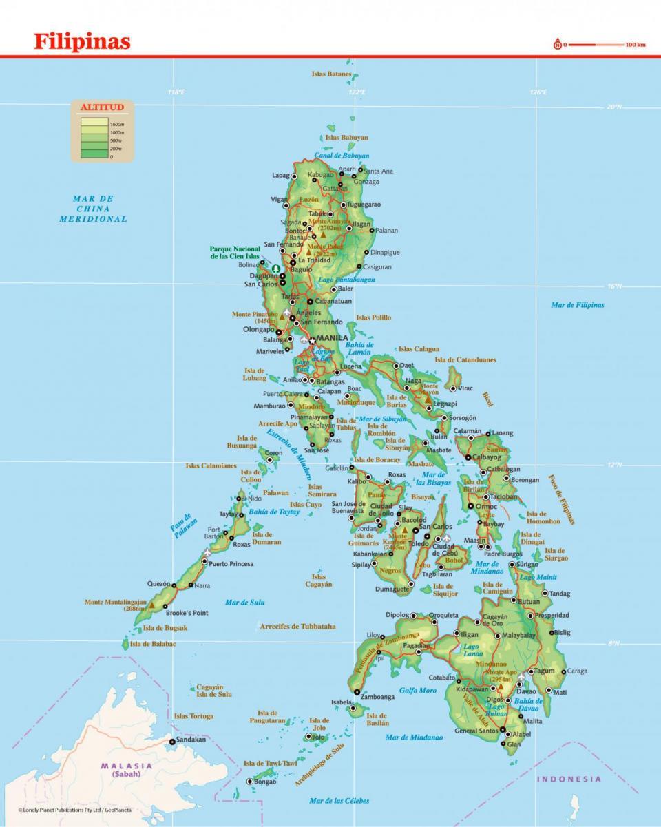 Mapa de Filipinas para preparar tu viaje a Filipinas de la forma más sencilla.