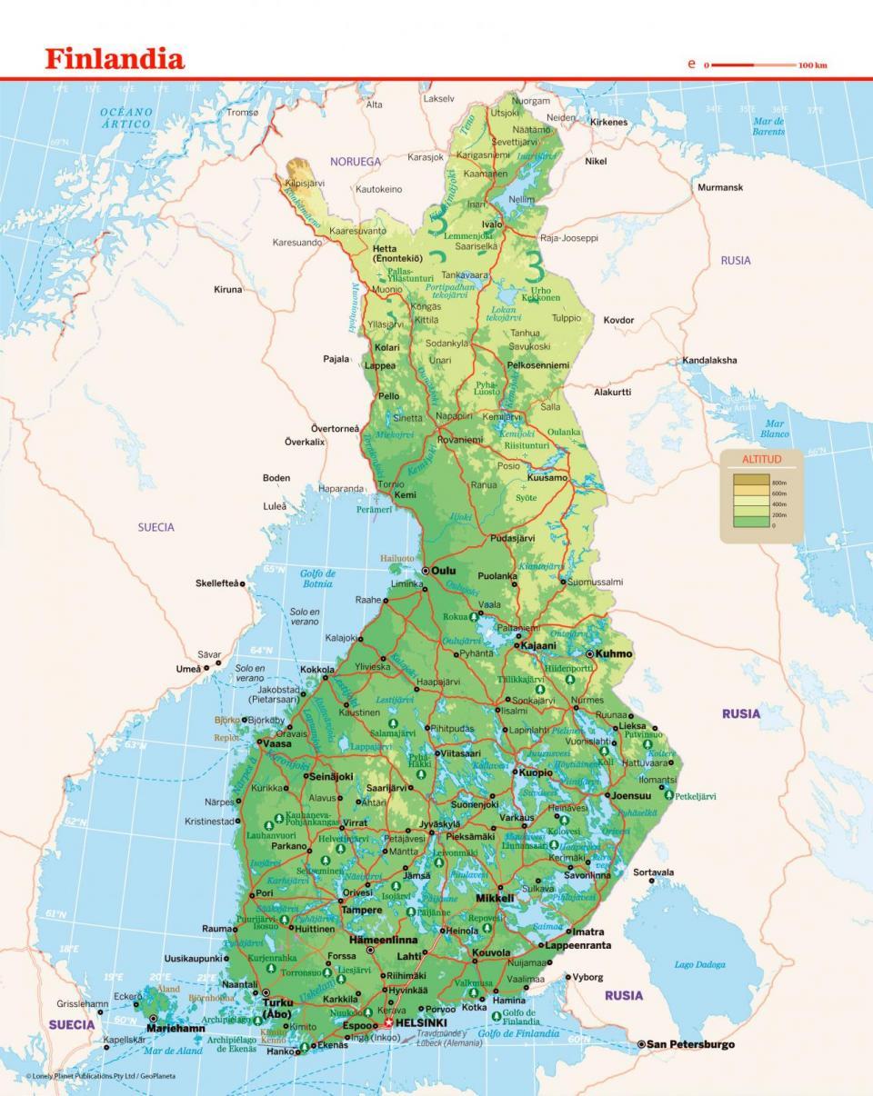 Mapa de Finlandia para preparar tu viaje a Finlandia de la forma más sencilla
