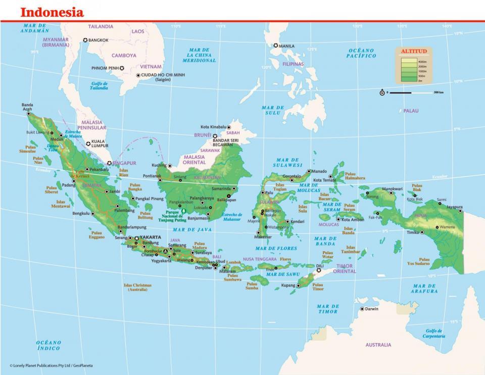 Mapa de Indonesia para preparar tu viaje a Indonesia de la forma más sencilla.