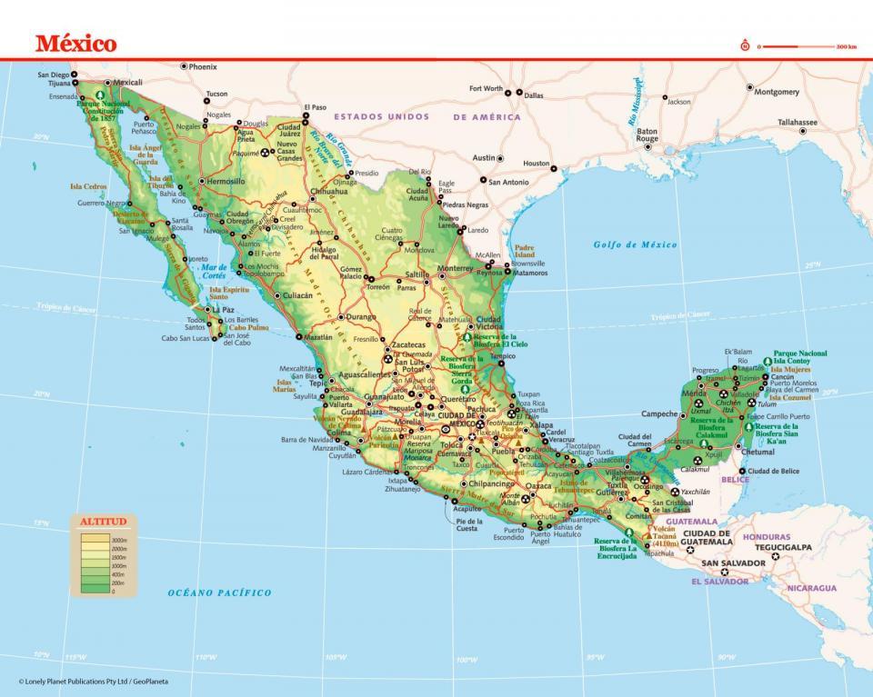 Mapa de México para preparar tu viaje a México de la forma más sencilla.