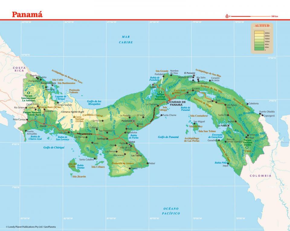 Mapa de Panamá para preparar tu viaje a Panamá de la forma más sencilla.