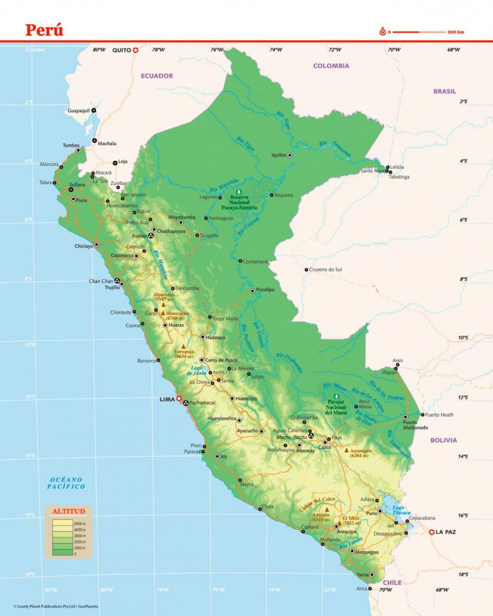 Mapa de Perú para preparar tu viaje a Perú de la forma más sencilla.