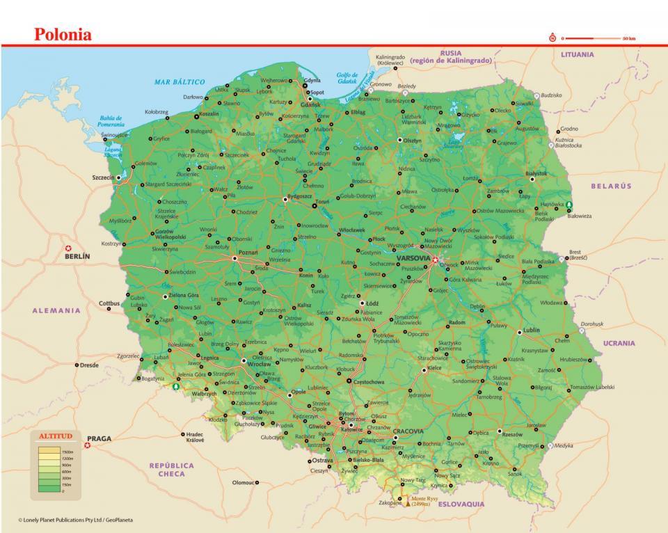 Mapa de Polonia para preparar tu viaje a Polonia de la forma más sencilla.