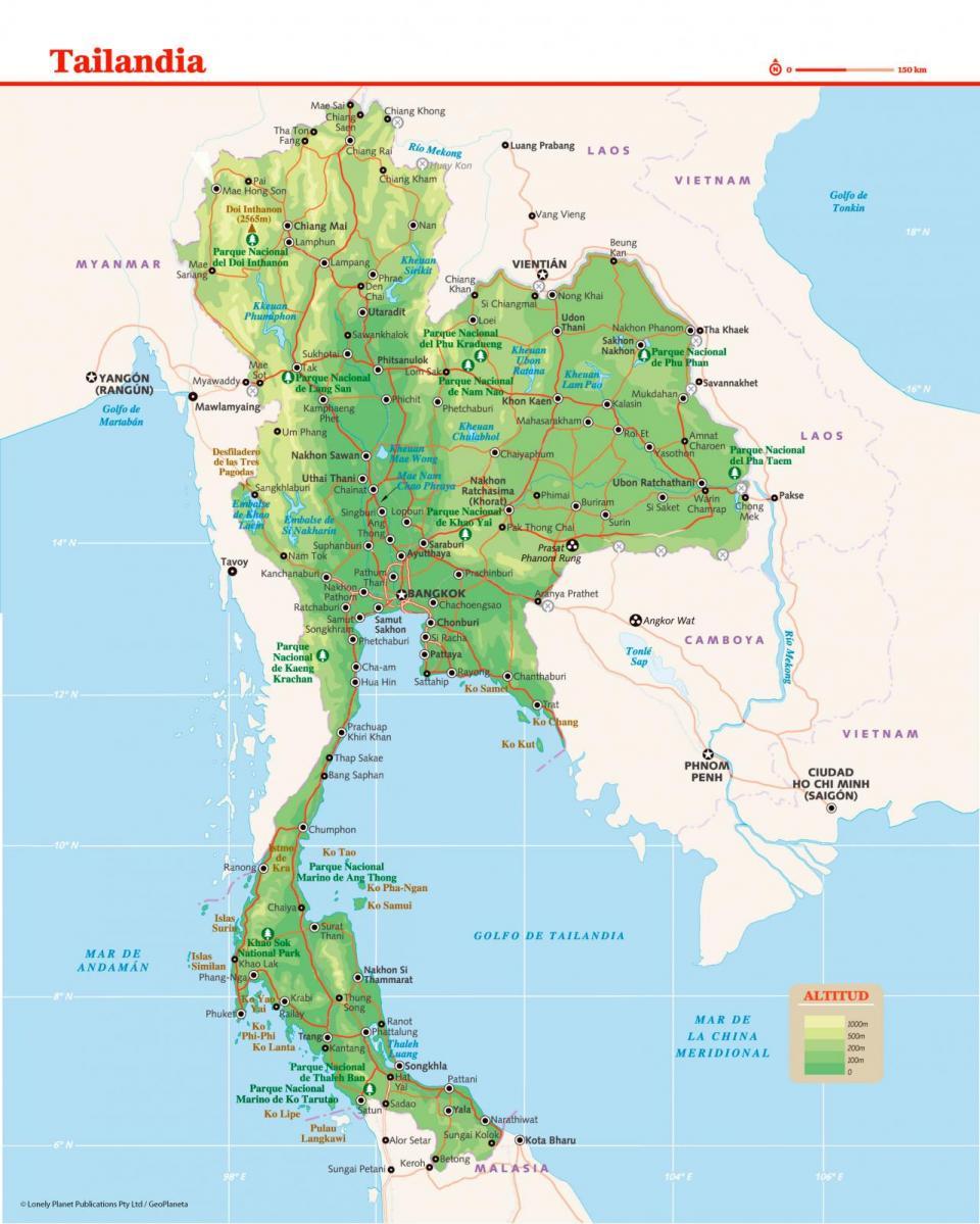 Mapa de Tailandia para preparar tu viaje a Tailandia de la forma más sencilla.