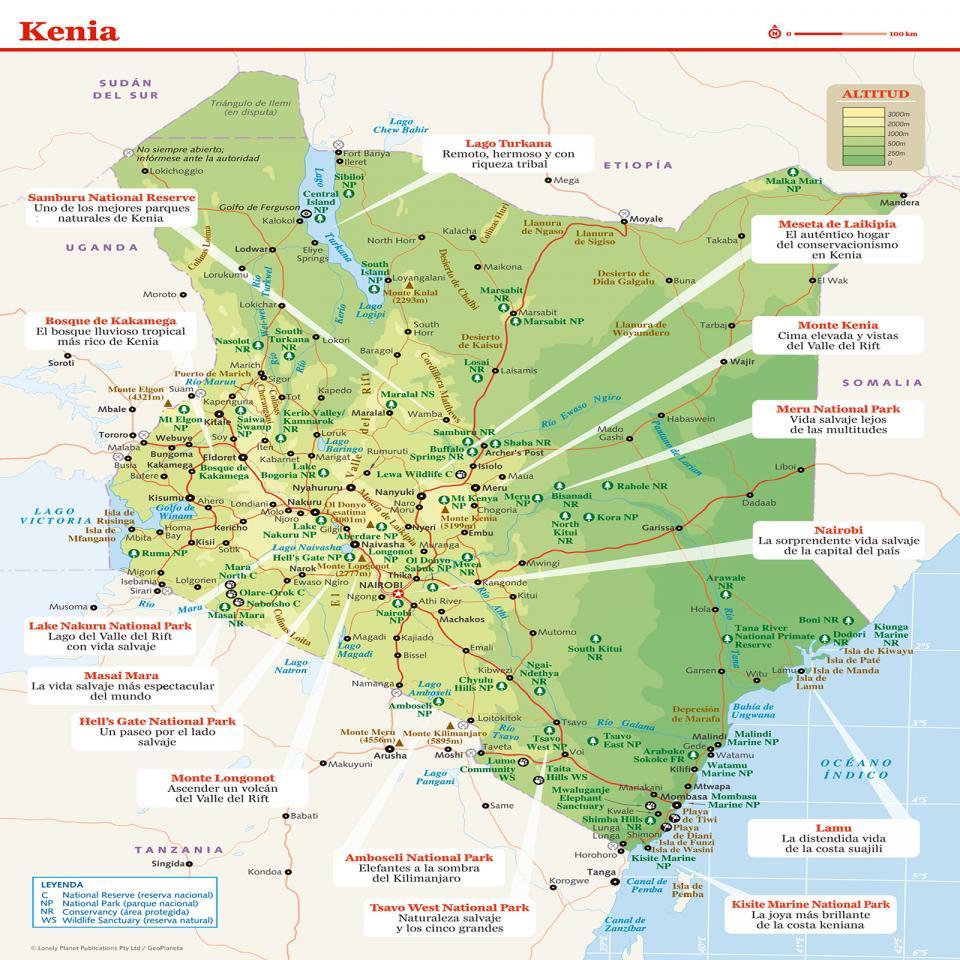 Mapa de Kenia preparar tu viaje a Kenia de la manera más sencilla