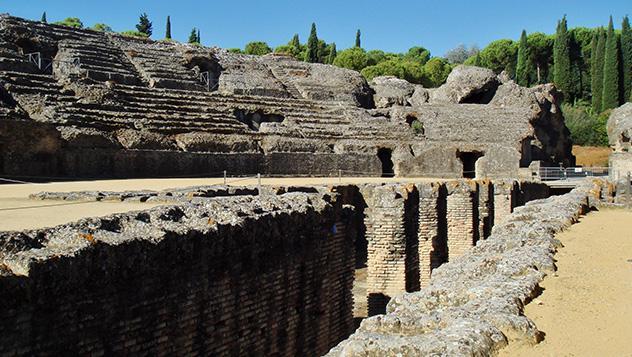 Anfiteatro romano de Itálica, Sevilla, Andalucía, España
