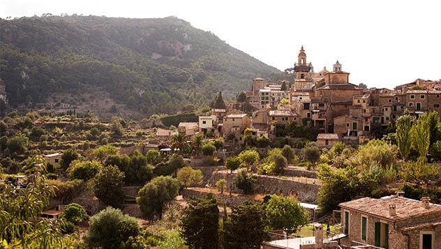 Vistas del pueblo de Valldemossa, Mallorca, Islas Baleares, España