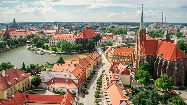 Vista de Breslavia, Polonia