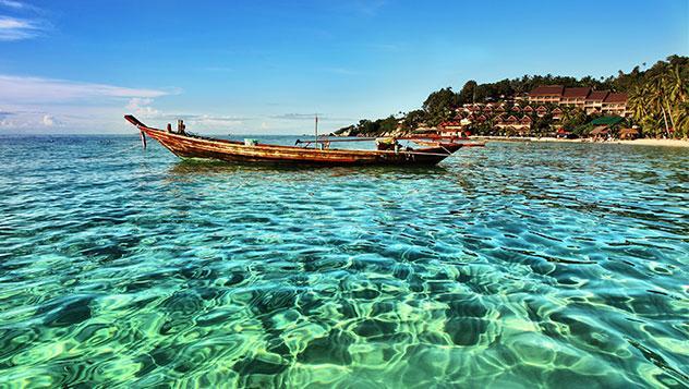 Las aguas cristalinas de Koh Phangan, Tailandia