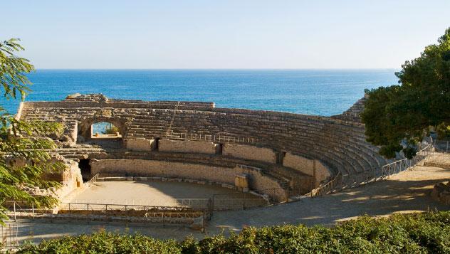Anfiteatro romano en Tarragona, Cataluña, España