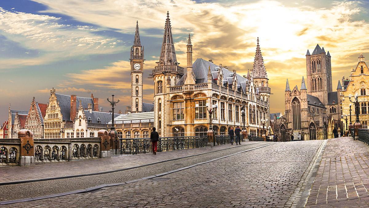Casco antiguo de Gante, Bélgica. Viaje sostenible Lonely Planet