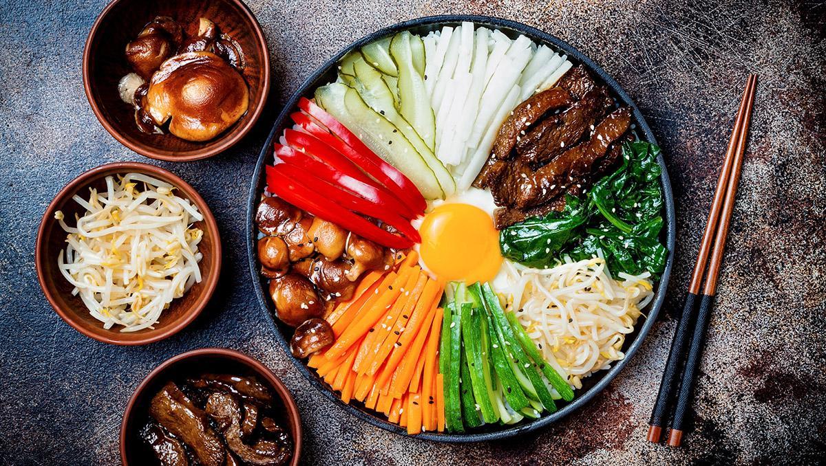 Gastronomía de Corea del Sur: bibimbap