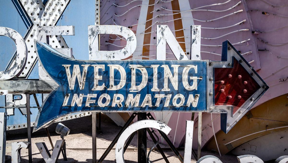 'Wedding information', Neon Museum, Las Vegas, Estados Unidos