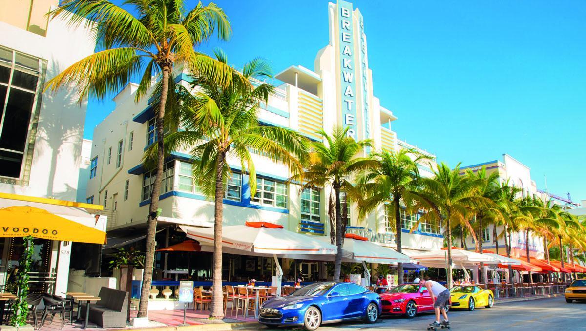 Miami 'art déco', Ocean Drive, Miami Beach