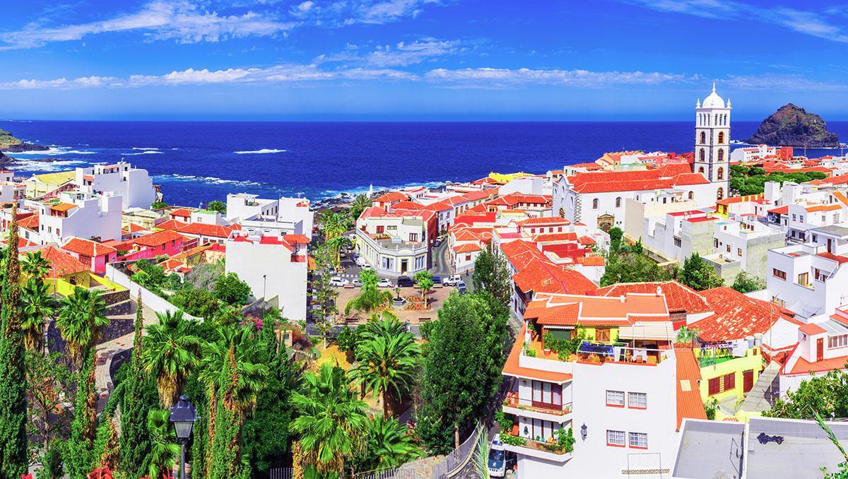 Garachico, pueblo de costa de Tenerife, Canarias, España