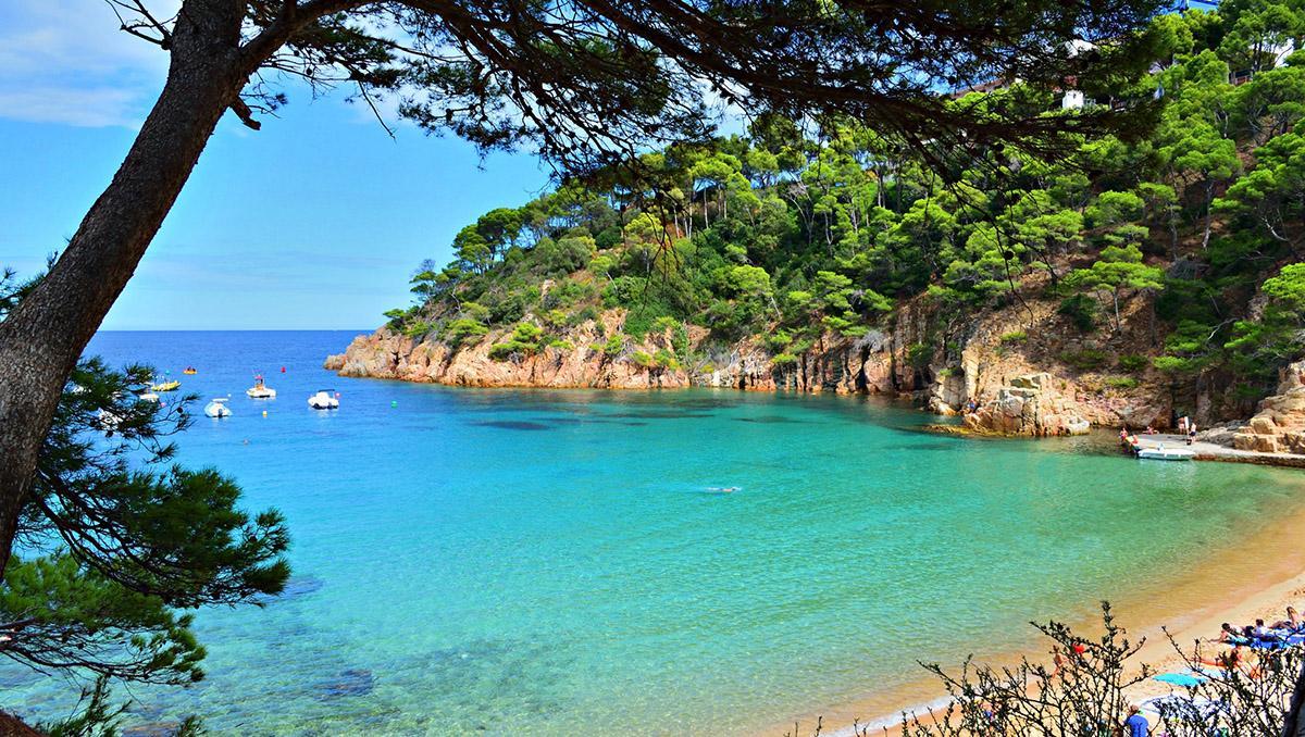 Aiguablava, playa de Begur, Costa Brava, Cataluña, España