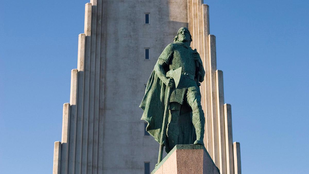 Leif Erikson, explorador islandés, Reikiavik, Islandia