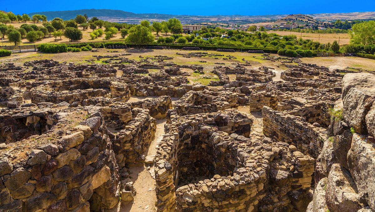 Yacimiento arqueológico Su Nuraxi, Barumini, Cerdeña, Italia