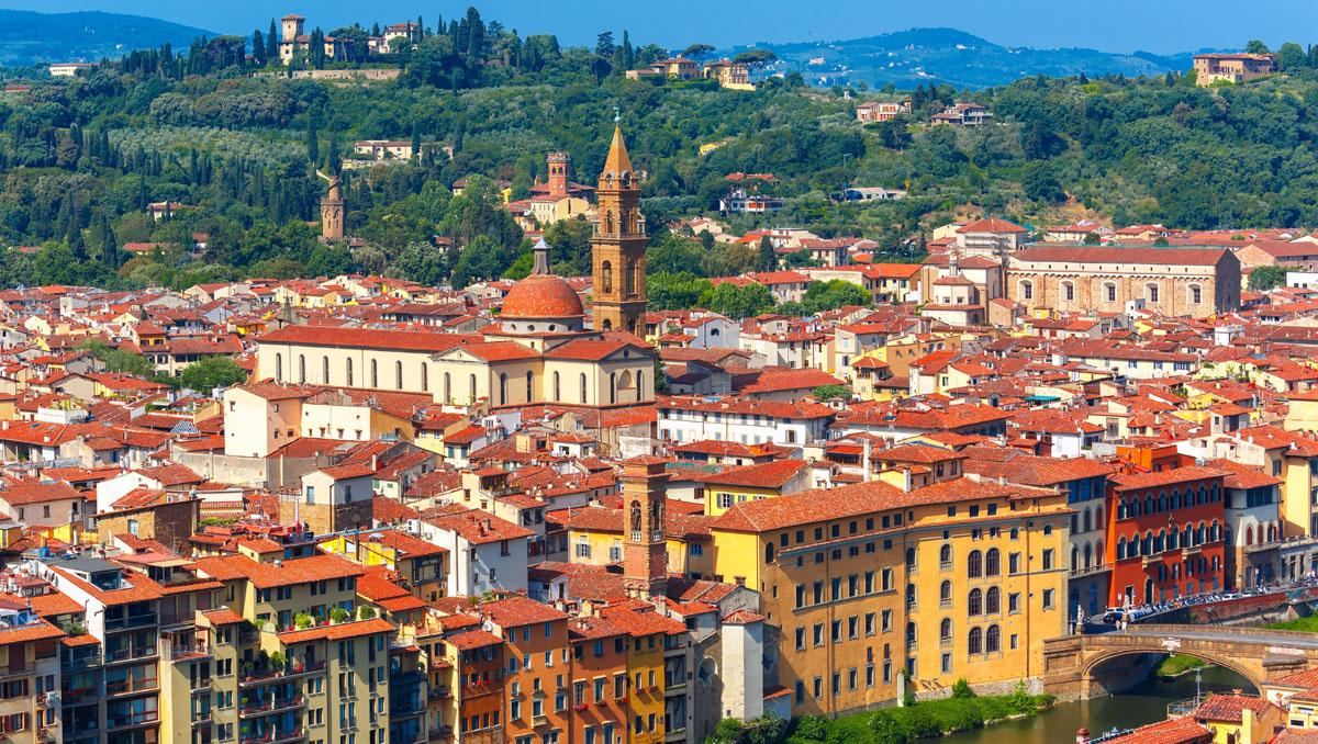 Oltrarno y río Arno, Florencia, Italia