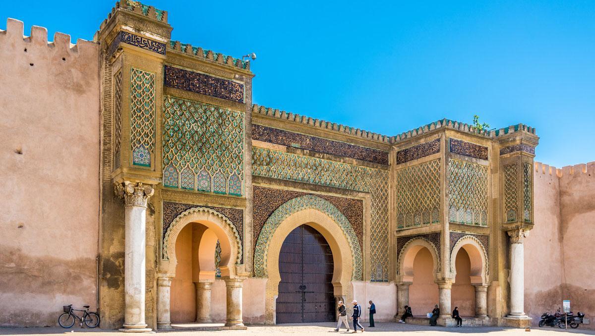 Mequínez, Marruecos, puerta de Bab Mansour