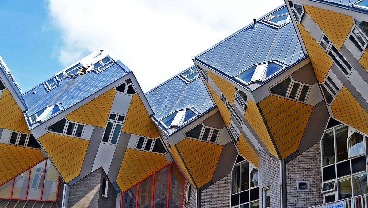 Casas cúbicas, Róterdam, Países Bajos