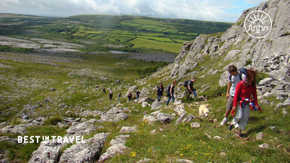 Turismo sostenible: senderismo en el Burren, Irlanda