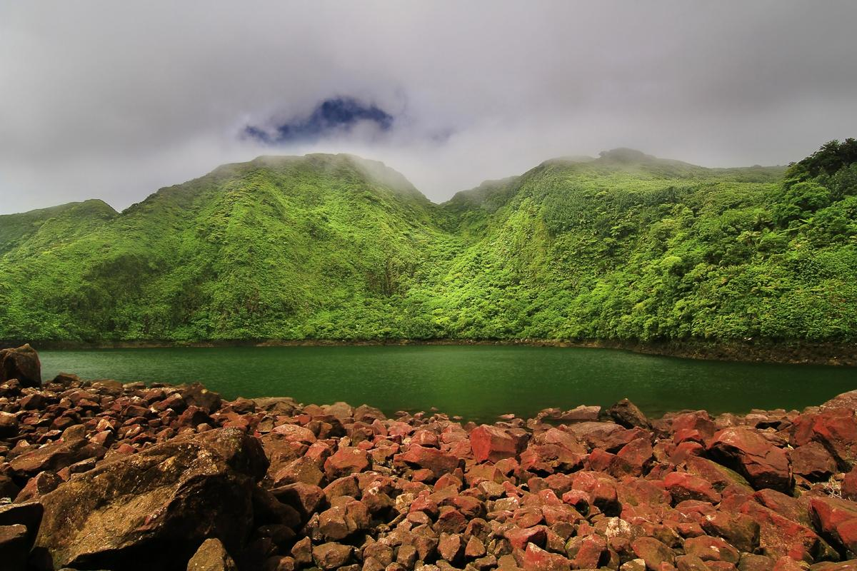Lago Boeri, Parque Nacional Morne Trois Pitons, Dominica