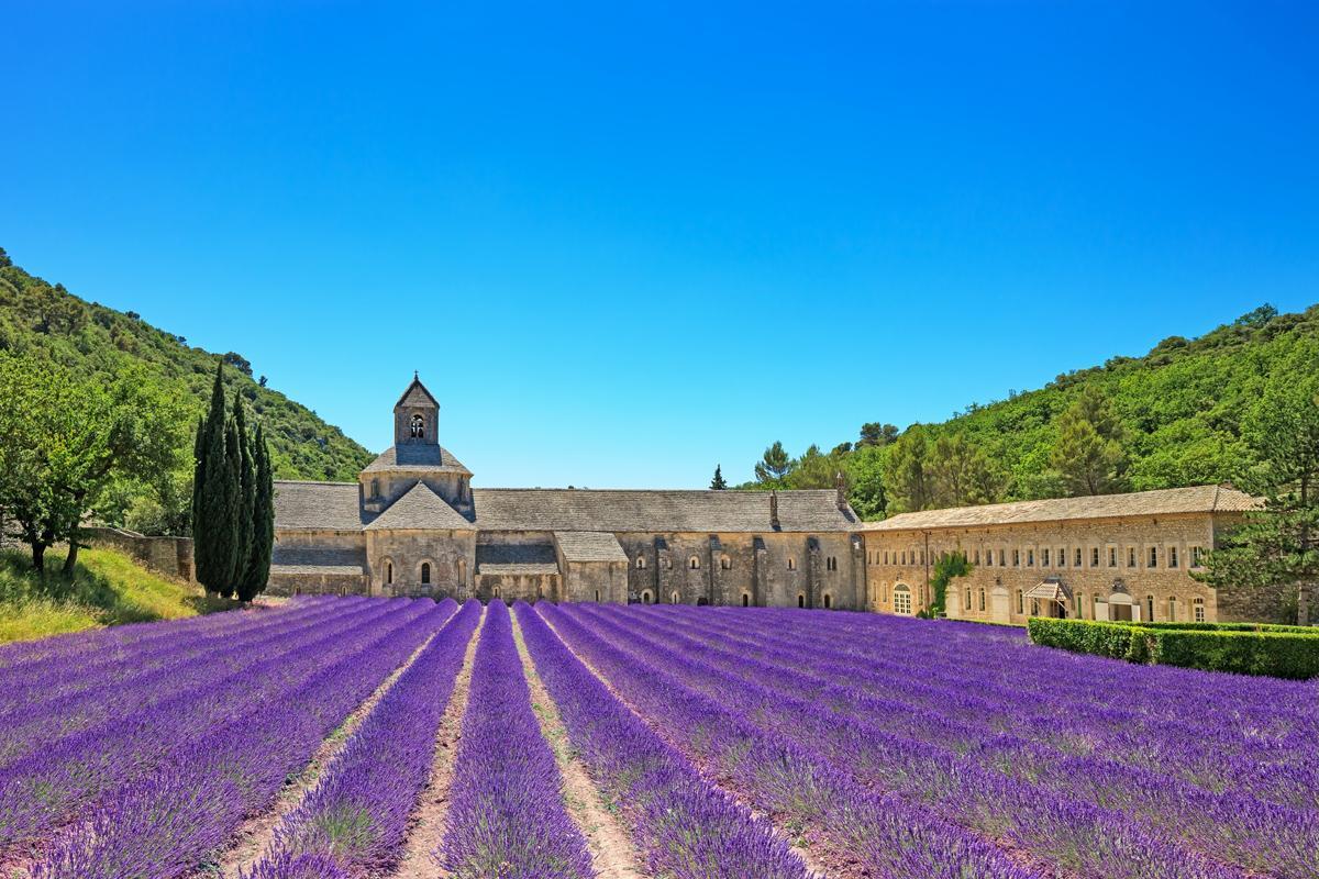 Abadía Senanque, Gordes, Provenza y la Costa Azul, Francia