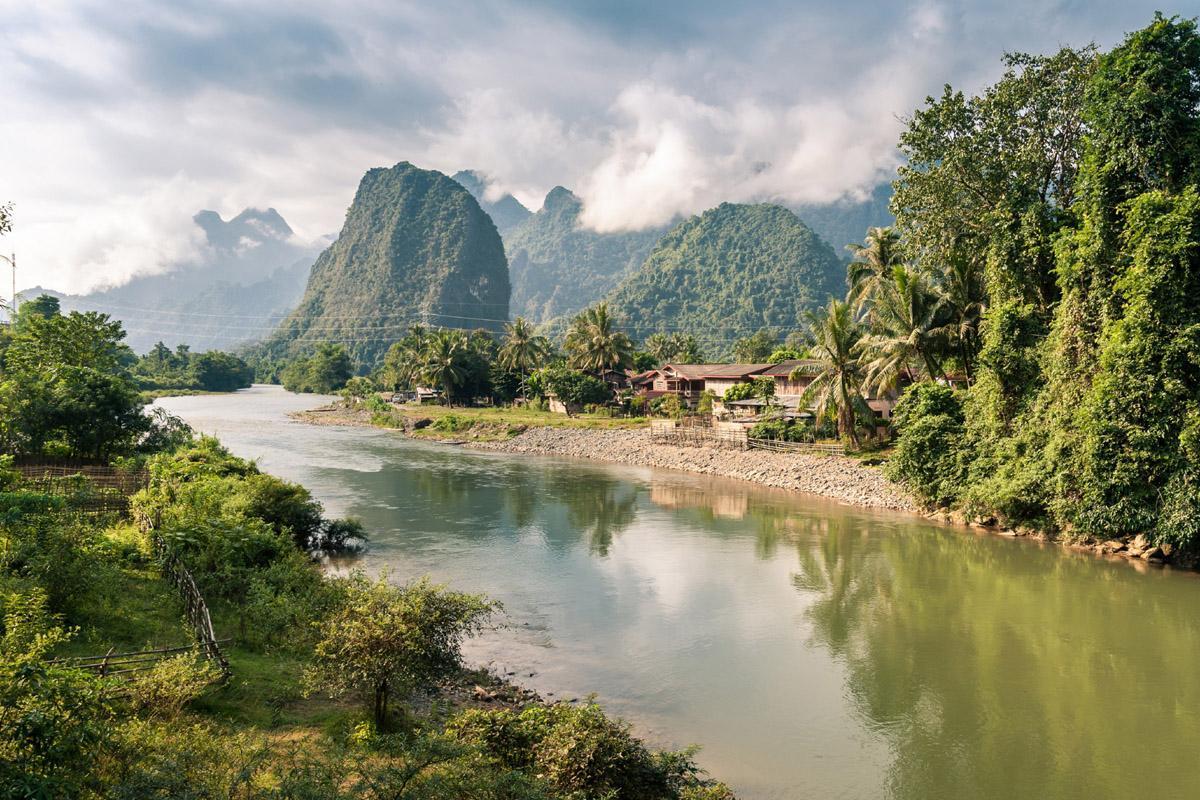 Río Nam Song, Vang Vieng, Laos