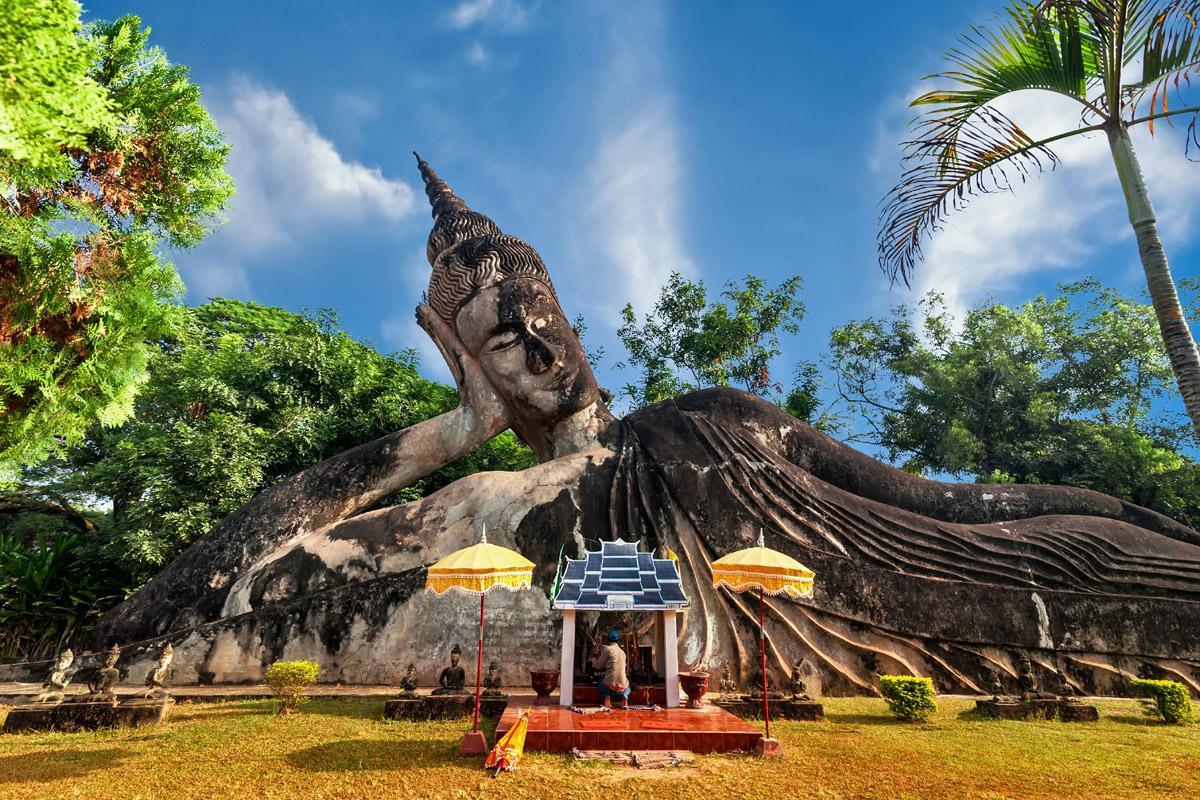 Wat Xieng Khuan Buddha, Vientiane, Laos