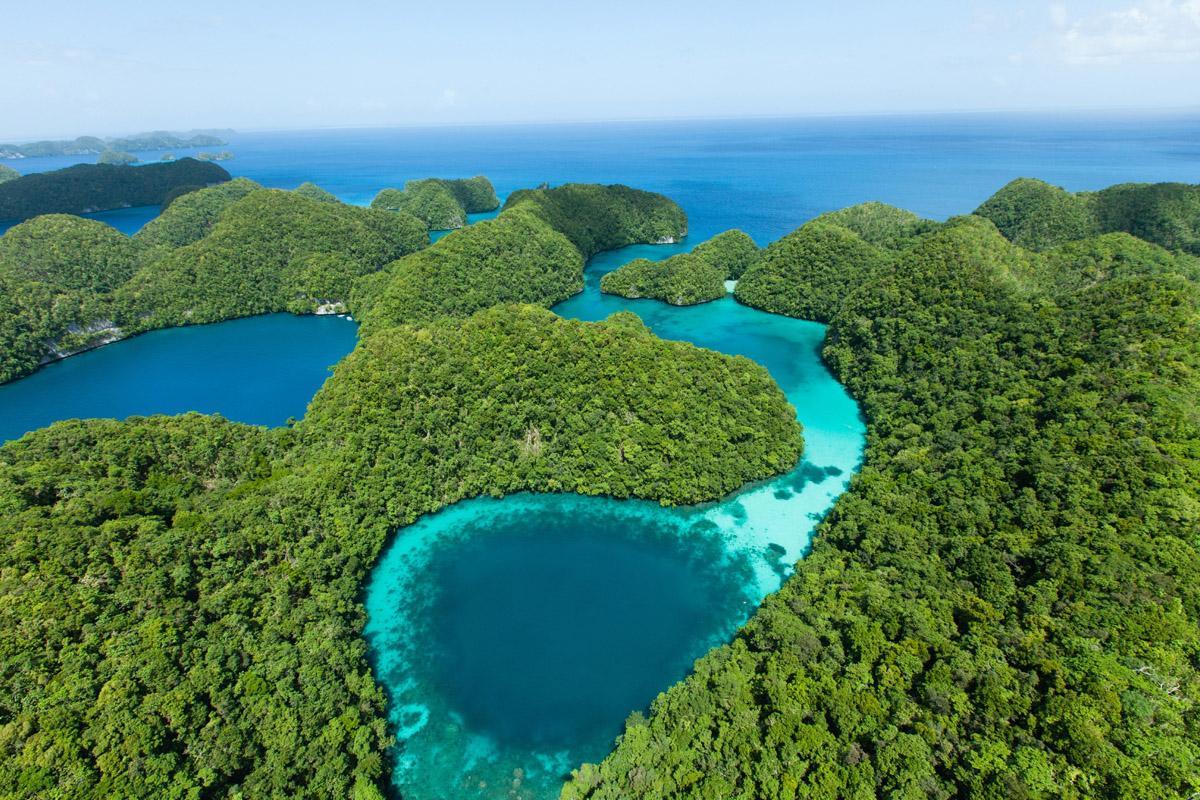Lago Azul, Islas Rocosas, Palaos