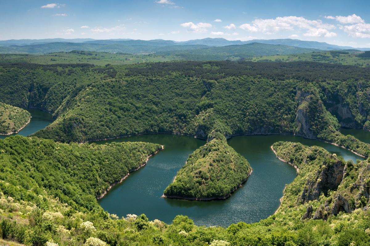 Cañón del río Uva, Serbia