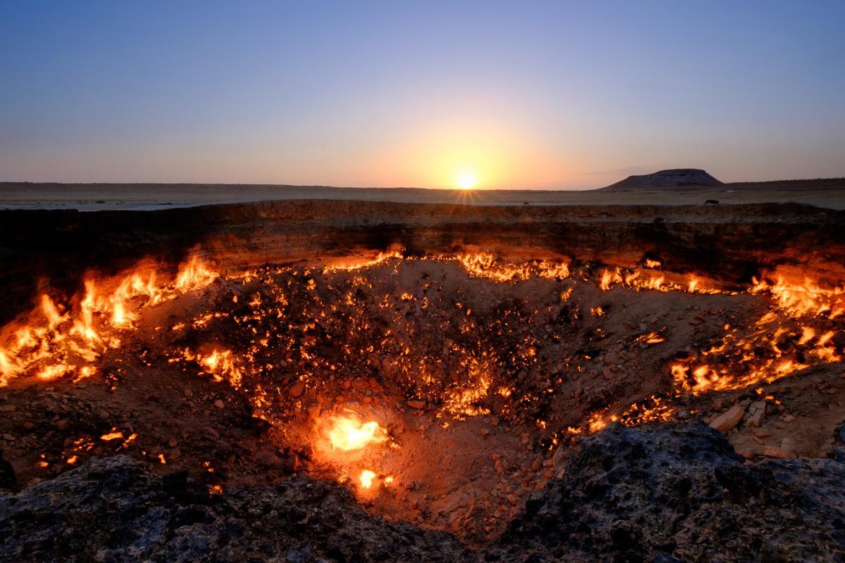 Cráteres Darvaza, Turkmenistán