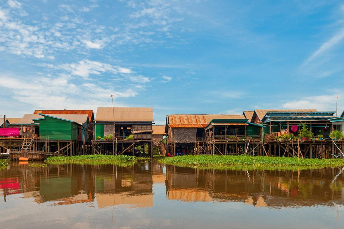 Pueblo flotante de Tonlé Sap, Siem Reap, Camboya