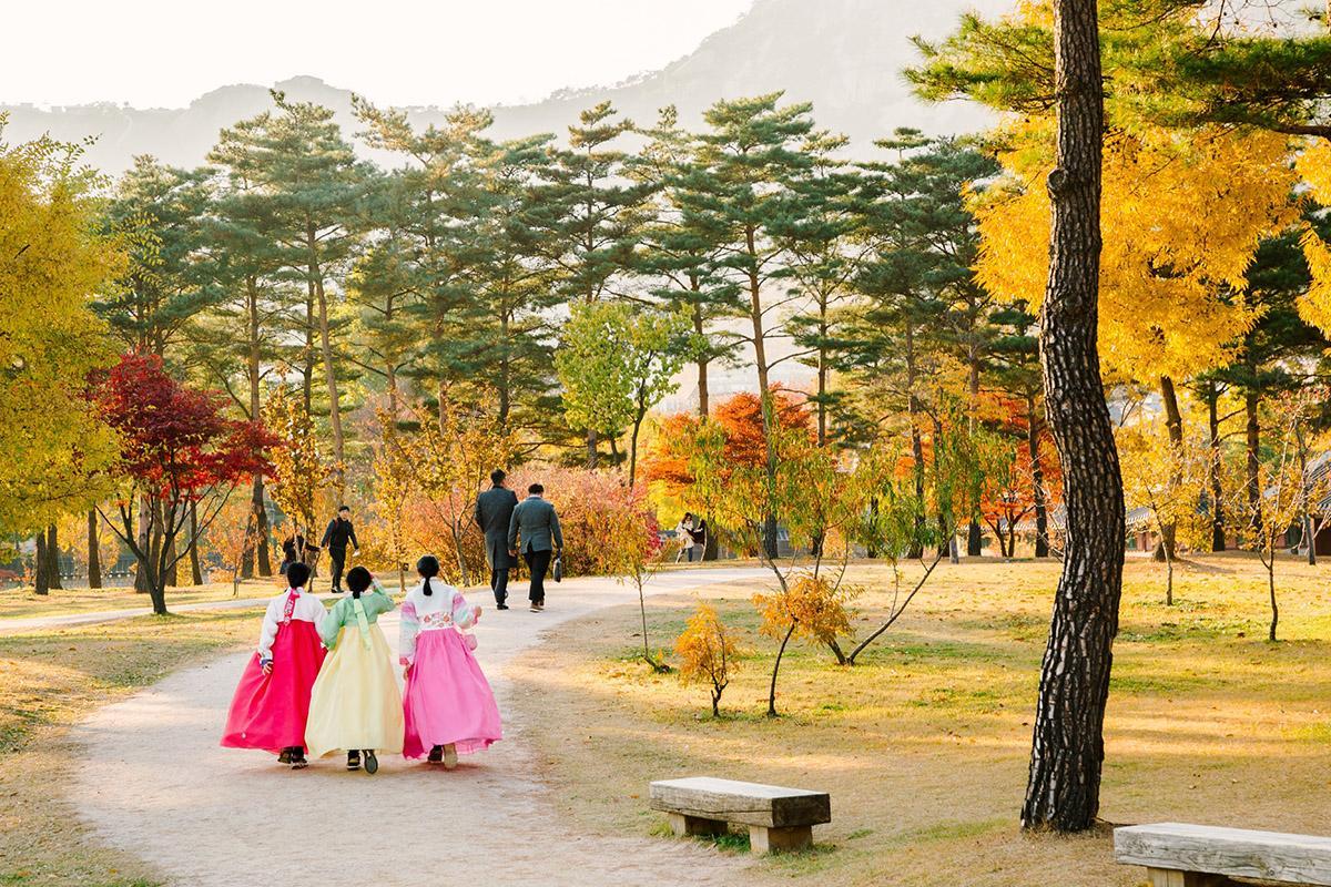 Parque del palacio Gyeongbokgung, Seúl, Corea del Sur