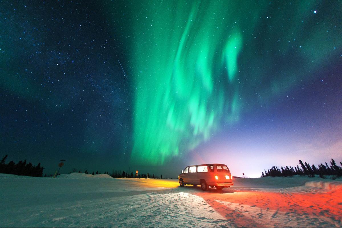 Aurora boreal, Fairbanks, Alaska, EE UU
