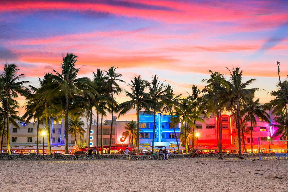 Ocean Drive, South Beach, Miami, Florida, EEUU