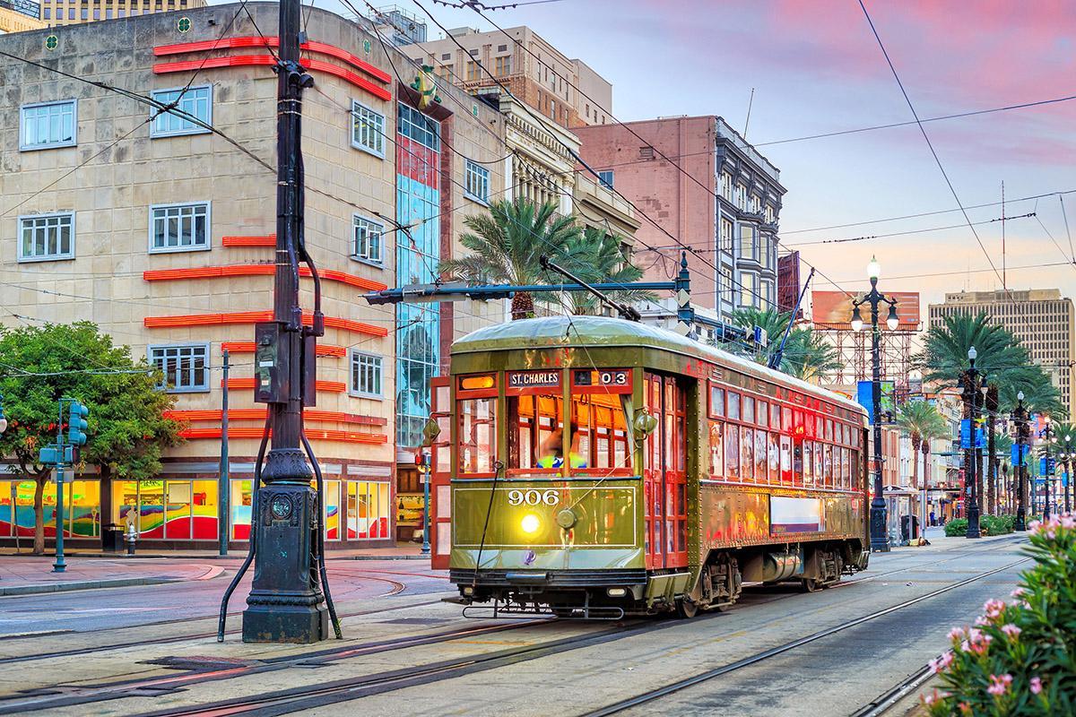 Tranvía de St Charles Avenue, Nueva Orleans, costa este de EEUU