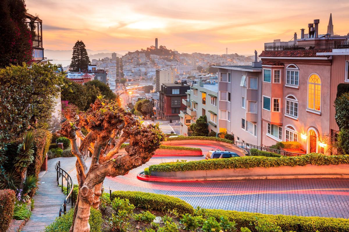Lombard Street, San Francisco, California, EE UU