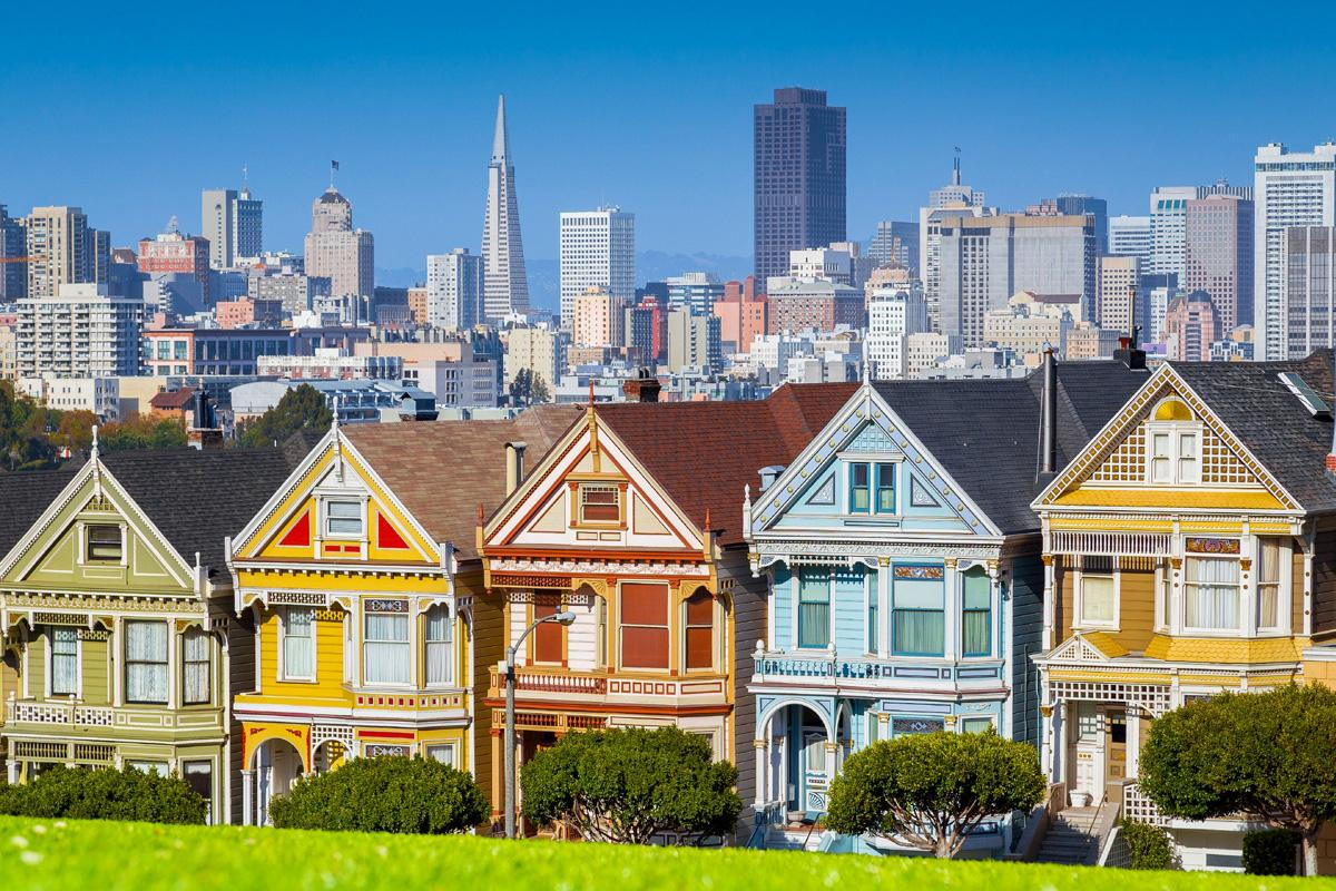 Painted Ladies, Alamo Square, San Francisco, California, EE UU