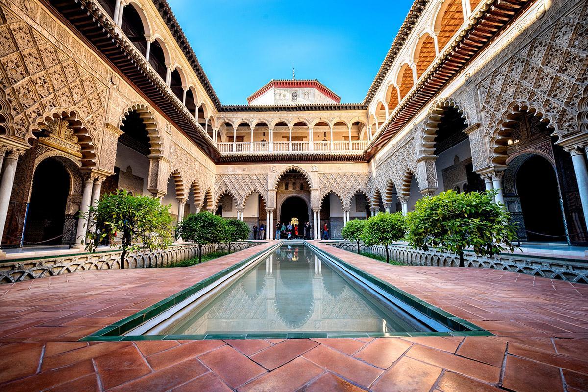 Patio de las Doncellas, Reales Alcázares de Sevilla, Andalucía, España