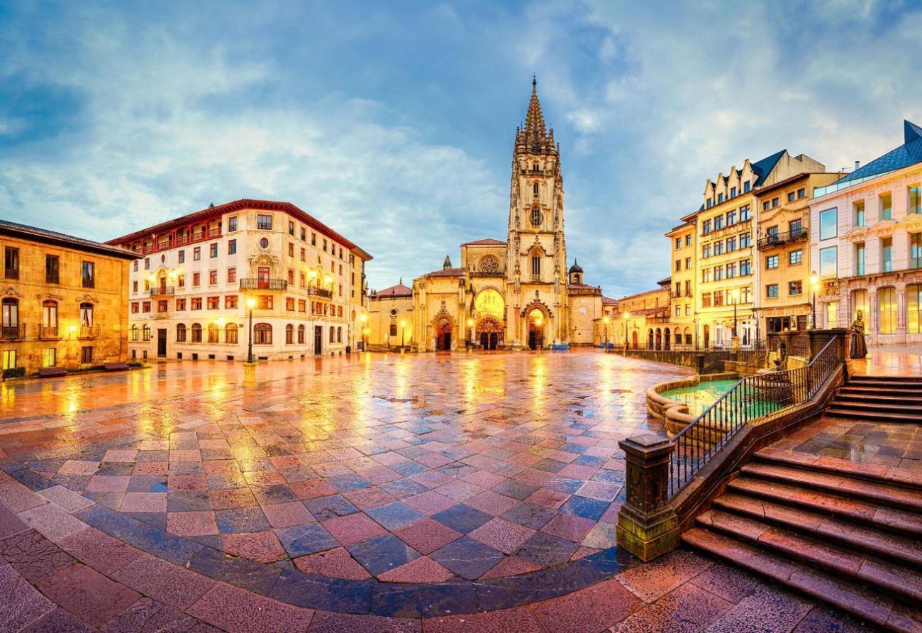 Plaza de la Catedral, Oviedo, Asturias