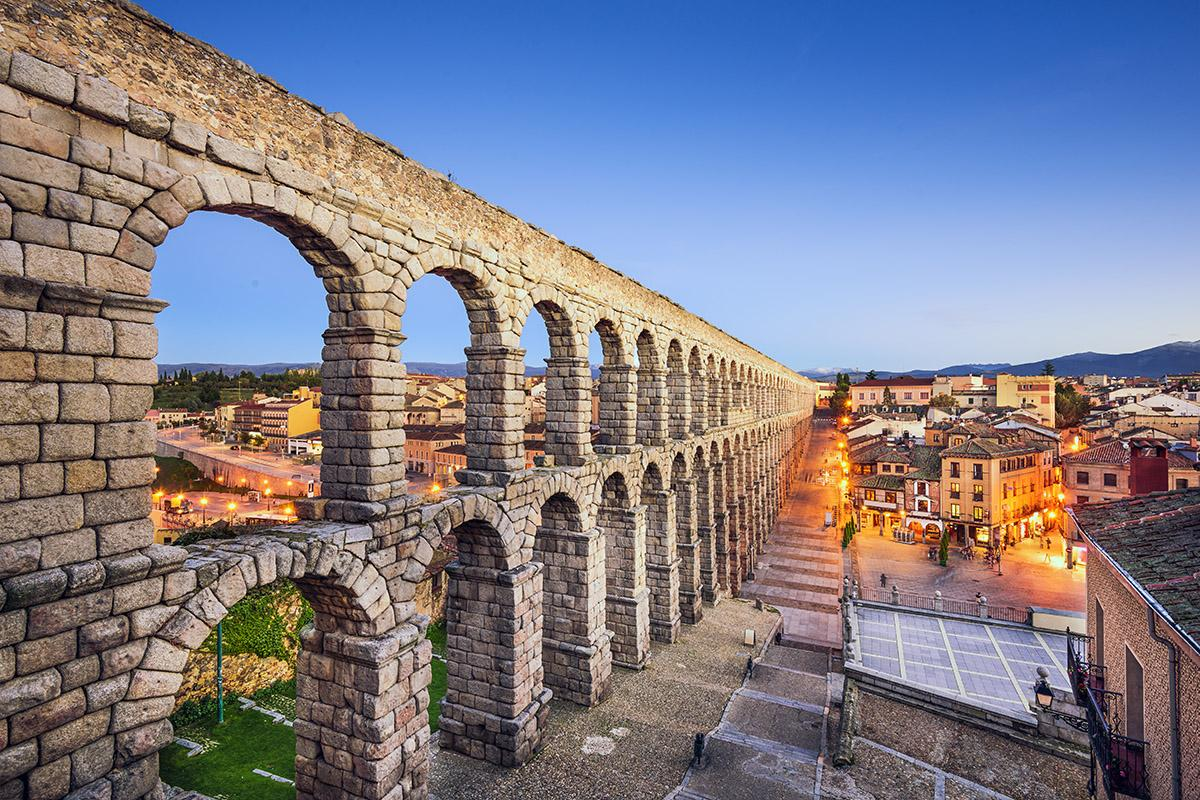 Acueducto de Segovia, Castilla y León, España