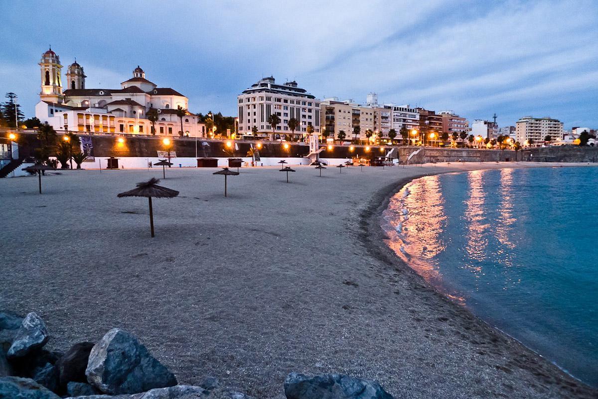 Playa de Ceuta, España