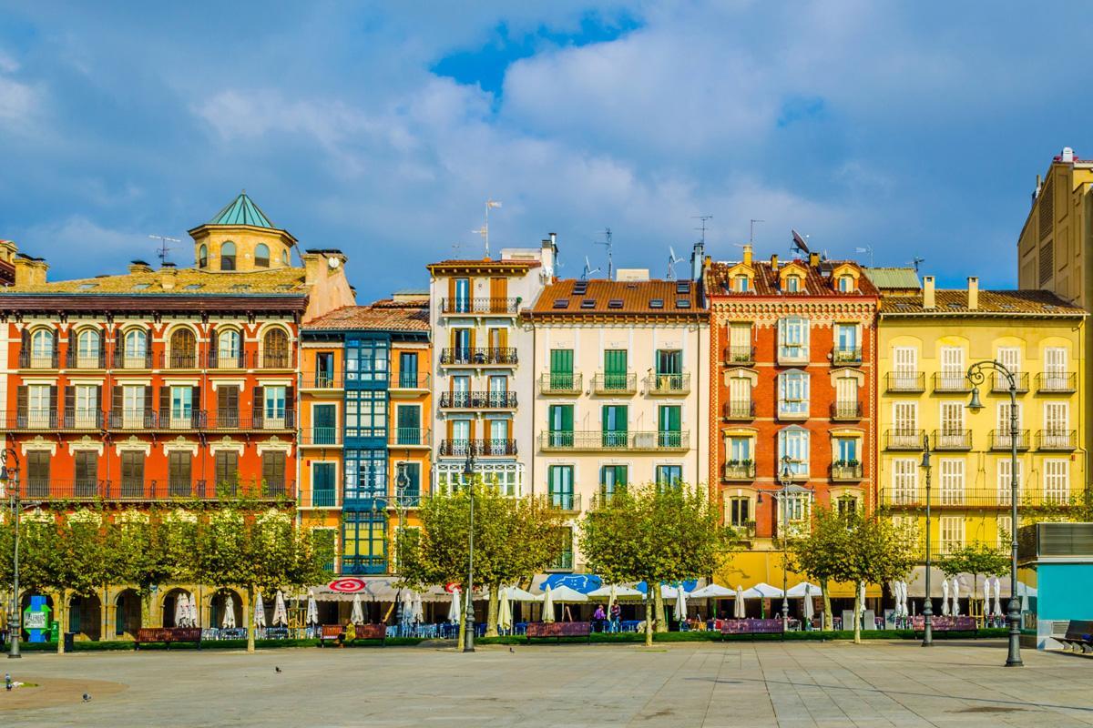 Plaza Castillo, Pamplona, Navarra, España