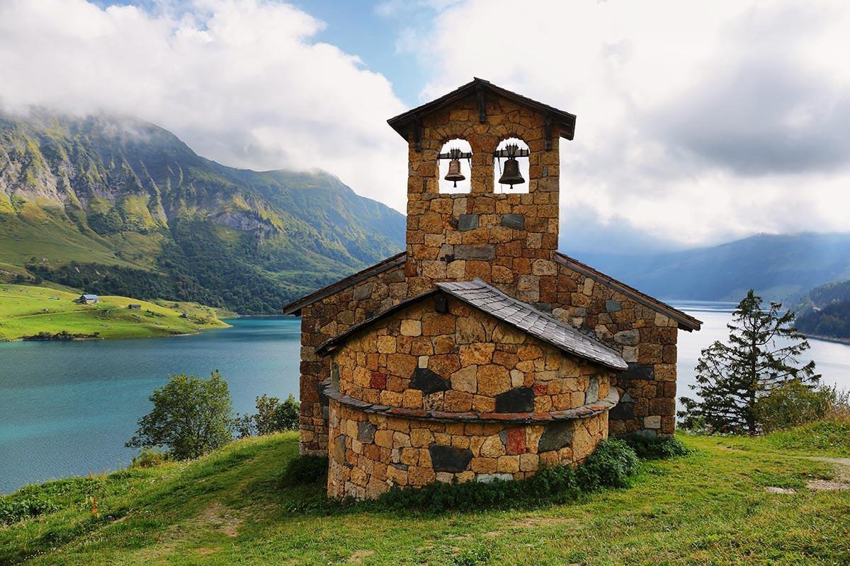 Capilla de Roselend, Saboya y Mont Blanc, Francia