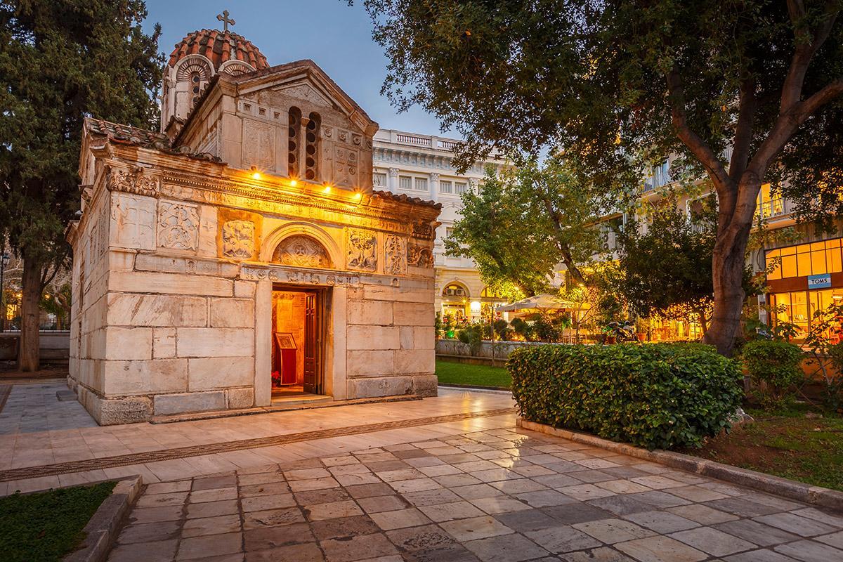 Iglesia bizantina, Atenas, Grecia