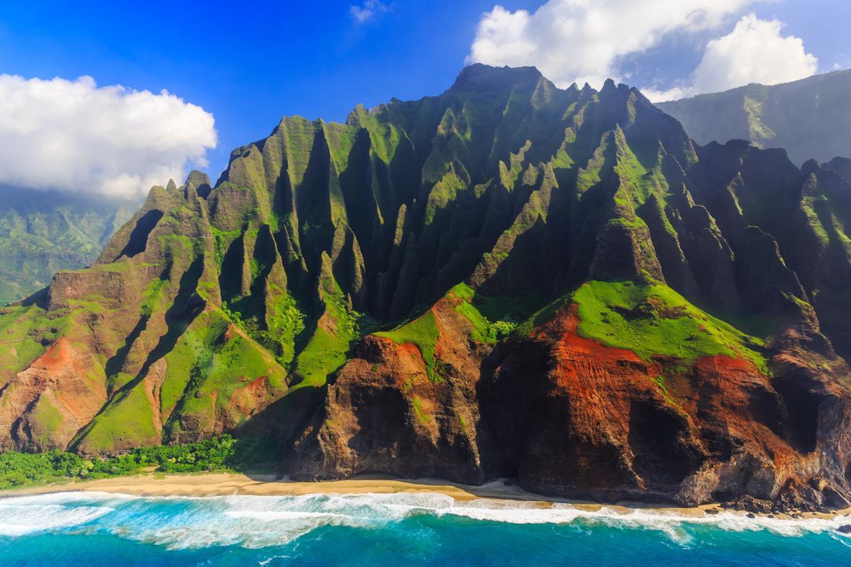 Costa de Na Paili, Kauai, Hawái