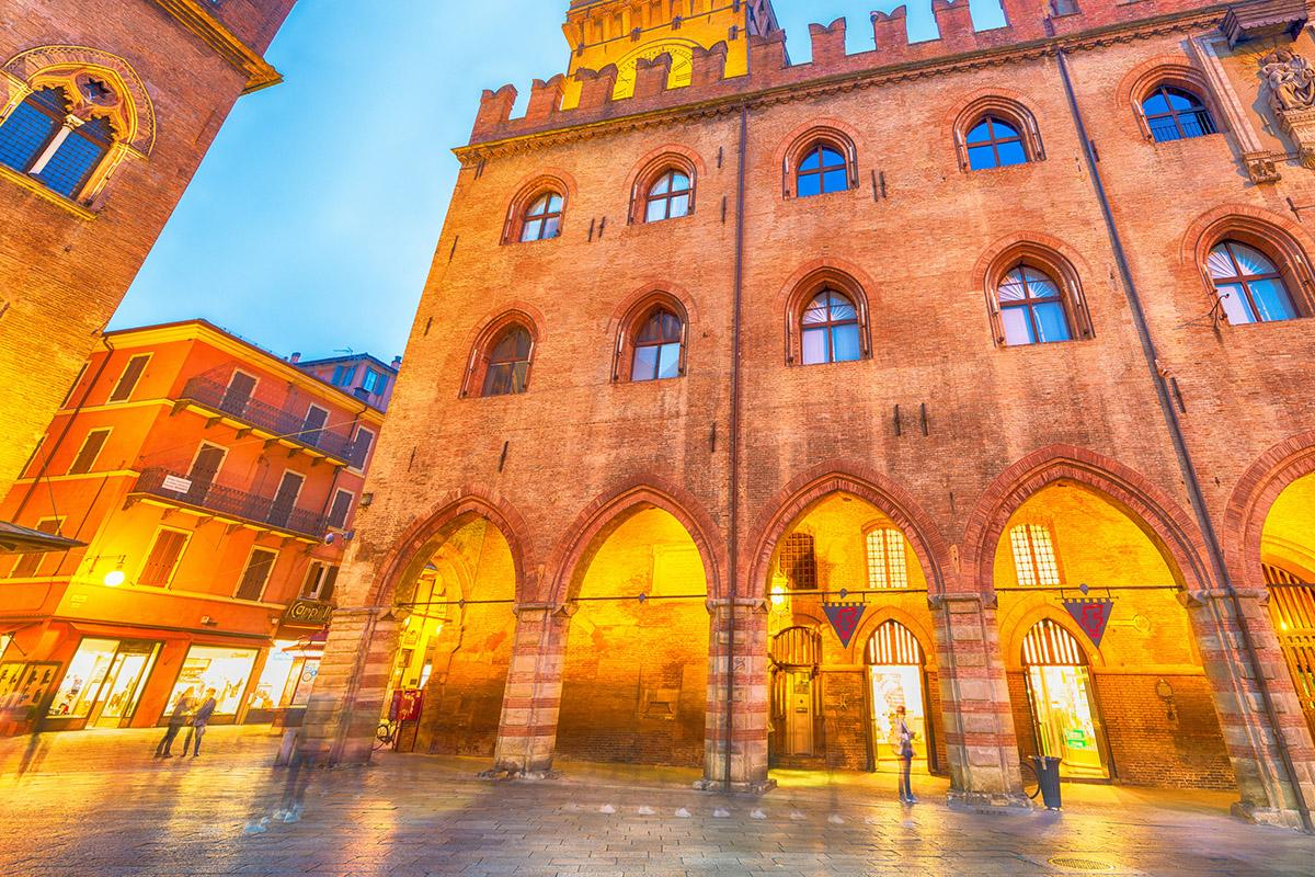 Piazza Maggiore, Bolonia, Italia